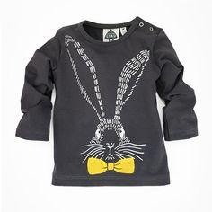 Little Luau longsleeve konijn donkergrijs