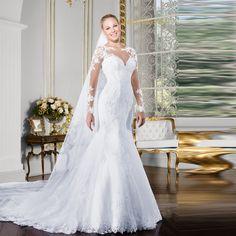 Wedding Dress 2016 Long Sleeve Mermaid Wedding Dress Sexy Back Lace Wedding Dress Bridal Gown Robe De Mariage Vestido De Noiva