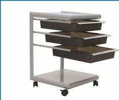"""Studio Designs 10056 Futura Mobile Storage Cart in Silver, Black and Blue Glass by Studio Designs. $88.22. (3) 12"""" x 12"""" Plastic Drawers. (2) 12"""" X 12"""" Shelves. Powder Coated Metal Finish. Tempered Blue Glass Top. Overall Dimensions:17""""D X 15.75""""W X 24""""H. 10056 Features: -Tempered blue glass top.-Three 12'' x 12'' plastic drawers.-Two 12'' x 12'' shelves.-Casters. Color/Finish: -Silver, black and blue glass finish.-Powder coated metal finish. Assembly Instructions: -As..."""