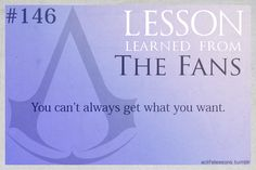 Assassin's Creed Life Lessons — (submitted by claudiakickedme)