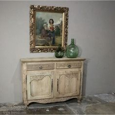 Country French Antiques | Country French Buffets | 19th Century Country French Stripped Oak Buffet | www.inessa.com