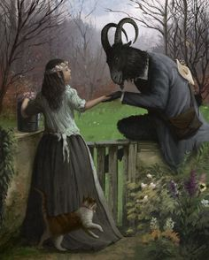 Illustration by Carlos Palma Cruchaga Arte Horror, Horror Art, Fantasy Kunst, Fantasy Art, Herne The Hunter, Black Phillip, Creepy Images, Satanic Art, Arte Obscura