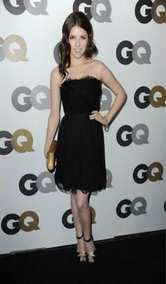 Your Tried and True Fashion Go-To: The LBD - Anna Kendrick - Emilio Pucci little black dress, Brian Atwood sandals, Jimmy Choo clutch, 2010 GQ Men of the Year Party, LA