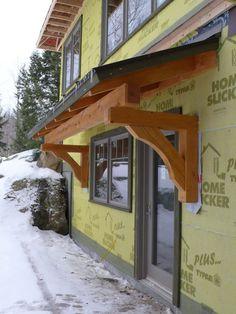 Pergola Over Front Door Garage Pergola, Outdoor Pergola, Pergola Kits, Pergola Ideas, Pergola Roof, Front Door Overhang, Front Door Awning, Roof Overhang, Roof Design