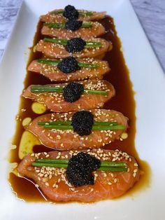 Sushi Recipes, Seafood Recipes, Appetizer Recipes, Cooking Recipes, Bar Recipes, Cream Recipes, Sashimi Sushi, Salmon Sashimi, Tuna Sashimi Recipe