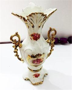 Lüx Güllü Dekoratif Saraylı Vazo