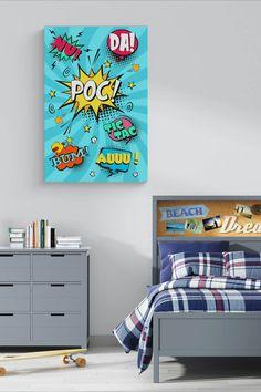 Tablou colorat, inspirat de benzi desenate, pentru camerele de adolescenți Digital
