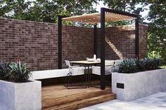 Outdoor Gallery   Floor & Decor Outdoor Spaces, Outdoor Living, Outdoor Decor, Outdoor Kitchens, Outdoor Pergola, Outdoor Ideas, Outdoor Tiles Floor, Parts Of Stairs, Brick Paneling