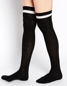 ASOS Stripe Over The Knee Socks