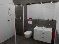 Betegelde verhoging als planchet en/of inbouwreservoir, over de gehele achterwand van badkamer Wernhout