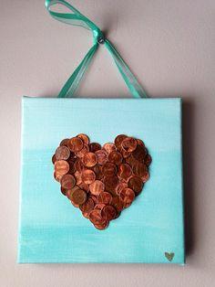 Handmade  Penny Heart