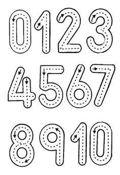 Printable Preschool Worksheets, Kindergarten Math Worksheets, Numbers Kindergarten, Maths, Shape Tracing Worksheets, Pre K Worksheets, Free Printable Numbers, Addition Worksheets, Math Literacy