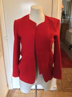 Sarks Fifth Avenue Red Wool Jacket. Size M. Size 14  | eBay