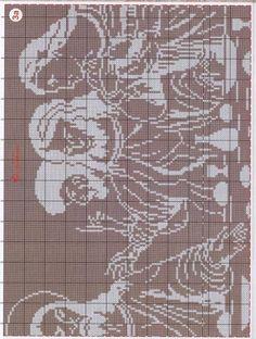 The Last Supper. Cross Stitching, Cross Stitch Embroidery, Cross Stitch Patterns, Thread Crochet, Filet Crochet, Religious Cross, Intarsia Woodworking, Chicken Scratch, Easter Crochet