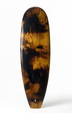 Peter Walker hollow wooden surfboard design