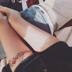 12 Pretty and Meaningful Thigh Tattoos | Brit + Co