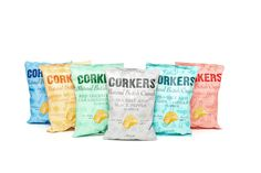 Corkers Crisps Packaging Design. Corking flavour, corking design.