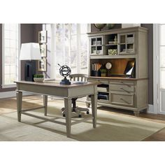 Liberty Bungalow Driftwood/Taupe (Brown) 3-piece Junior Executive Desk and Hutch Set