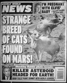 Gotta Love Weekly World News Fake News Headlines Funny Headlines Newspaper Headlines