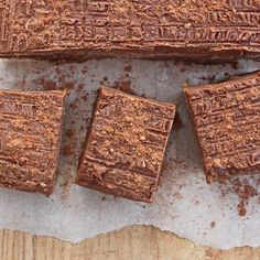 Caramel Chocolate Slices | Deliciously Ella