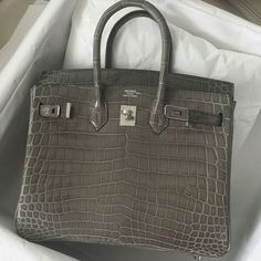 Hermes Birkin Chocolate and Noisette Clemence with Palladium Hardware 35
