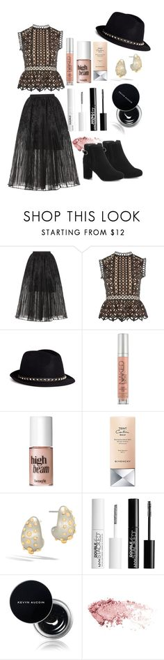 """Blackened Beauty #664"" by earthelglowing on Polyvore featuring Elie Saab, Topshop, Valentino, Urban Decay, Benefit, Givenchy, John Hardy, Charlotte Russe, Kevyn Aucoin and GetTheLook"