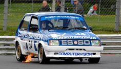 Patrick Watts racing the first of three revived #MG Metro Turbos - credit Jeff Bloxham #ClassicCars