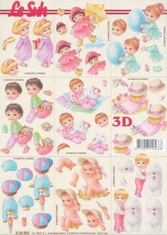Feuille mini 3D à découper A4 - 4169.882 - Bébé enfant - Decoupage Sheet Baby • EUR 1,05 - PicClick FR