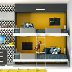 Dormitorios juveniles para dos hermanos Ideas Hogar, Kids Bunk Beds, Room Tour, My Room, Kids Bedroom, Kids Rooms, Bedroom Ideas, Toddler Bed, Room Decor