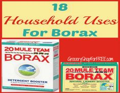 Have you ever used 20 Mule Team Borax? Here are 18 ways to use it everyday around the house!