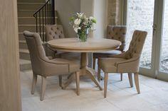 Neptune Henley Pedestal Table, Oak, 4 Seater