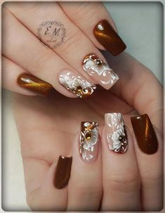 Hot Trendy Nail Art Designs that You Will Love Fancy Nails, My Nails, Cute Nails, Fingernail Designs, Nail Art Designs, Nails Design, Beautiful Nail Designs, Beautiful Nail Art, Fabulous Nails