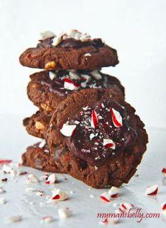 Chocolate Peppermint Kiss Cake Mix Christmas Cookies