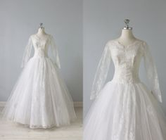50er Jahre Brautkleid / 1950er Jahre Lace von TheVintageMistress, $348.00