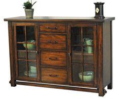 Mesa Rustica Server | A America Furniture | Home Gallery Stores