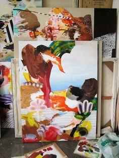 Fiona Ackerman: paintings menu Inspirational Artwork, Painting & Drawing, Contemporary Art, Abstract Art, Menu, Paintings, Drawings, Artists, Painting Art