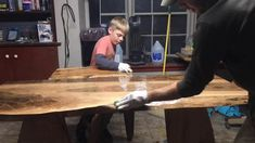 Hand Made Table With My Brother