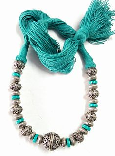 Hand-crafted Beaded German Silver Necklaces
