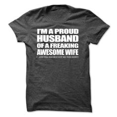 I'm A Proud Husband T-Shirts, Hoodies. ADD TO CART ==► Funny Tee Shirts