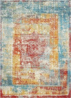 Unique Loom Rosso Cavalli Multi 0 x 0 Area Rug 3140391 - The Home Depot Outdoor Lounge Furniture, Rugs Online, Animals For Kids, Blue Area Rugs, Blue Orange, Loom, Design Trends, Bohemian Rug, Oriental