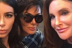 Caitlyn And Kris Jenner Share First Photo Together In Kim's Latest Selfie