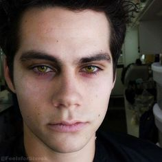 Dylan O'Brien as Nogitsune Stiles..... HIS EYES HOLY scary stiles