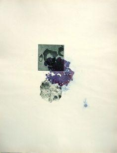 """elisabeth keh chalas  """"série miniatures sûr haut""""   gravure pointe séche sur acier, sur aquarelle .50/60  tirage unique  2007"""