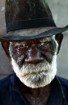 Robert Rallah, Elder of the Yaramun (Ringer's Soak) Aboriginal Community. The Kimberley Western Australia. - David Dare Parker