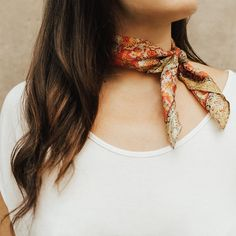 All wrapped up in the details of our Dahlia Silk Scarf ✨ Makeup Tips For Small Eyes, Infected Tattoo, Piercings, Our Lady, Dark Skin, Dress To Impress, Going Out, What To Wear, At Least