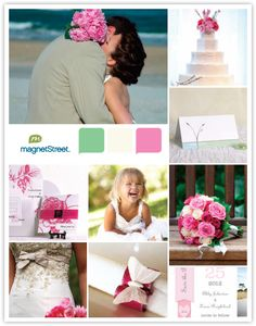Summer Wedding Theme - Tropical Color Palette