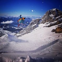 Candide Thovex enjoying home. Screenshot by @etiennemerel shooting for the new @Faction Skis clip.