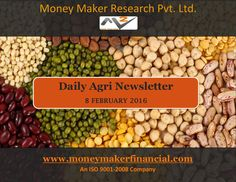 Agri Report by Money Maker Research  Soybean prices sustain at higher levels on weak production, RM seed prices extend its losses on weak demand, Guar seed and Gum prices mild recovered on short covering.