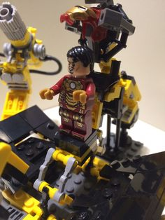 Real Lego Iron Man CUSTOM Suit Up Gantry + Jarvis
