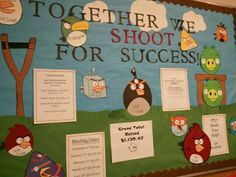 Angry Birds bulletin board for the PTO drive